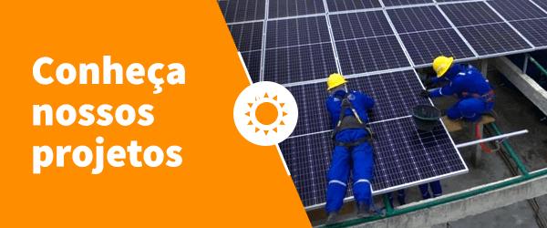 """Banner no artigo """"Energia solar para empresas"""" para projetos Alpha Solar"""