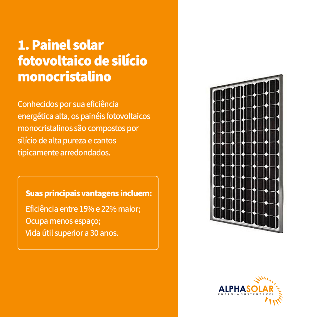 painel solar fotovoltaico de silício monocristalino